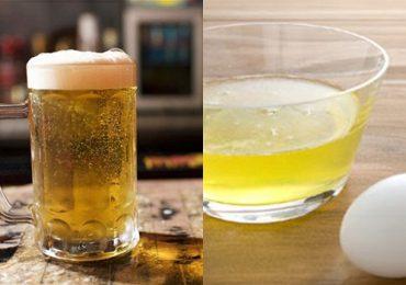 Tác dụng của uống bia với trứng gà – Uống là lên cân