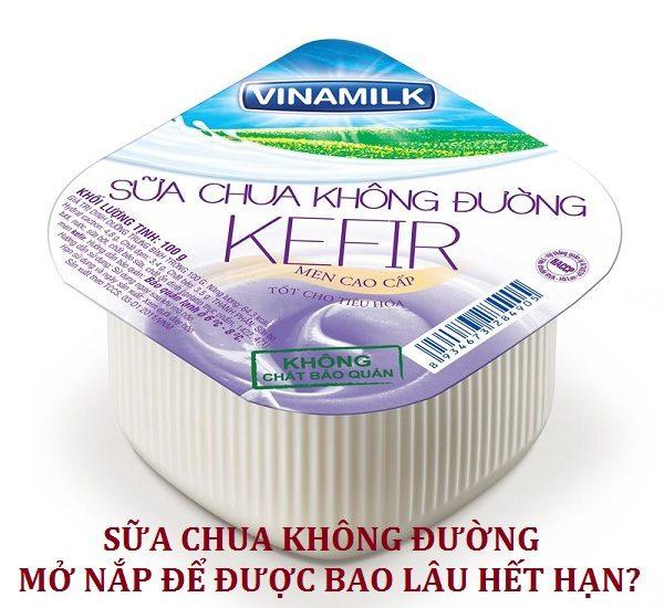 Sữa chua không đường mở nắp để được bao lâu thì hết hạn