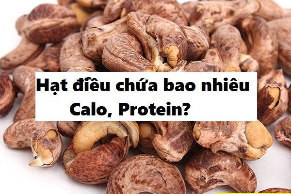 1 hạt điều bao nhiêu calo, protein? ăn bao nhiêu hạt là đủ trên ngày?