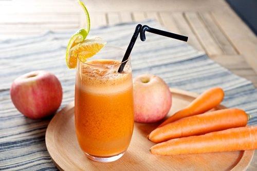 Top 10 tác dụng nước ép táo cà rốt đối với sức khỏe